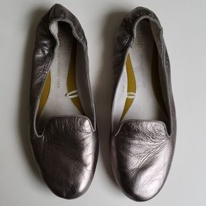 Gap Leather Silver Loafers